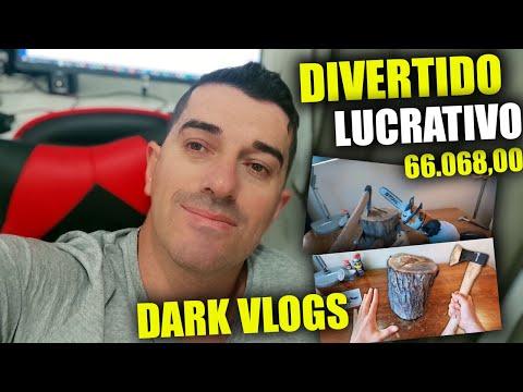 [ INTELIGENTE👩🚒]Com Youtube R$ 66.068,00 Sem aparecer Fazendo Vlogs Dark (GANHAR SEM APARECER)